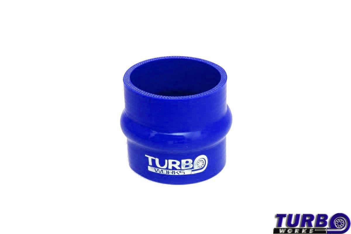 Szilikon rezgéscsillapító összekötő, egyenes TurboWorks Kék 60mm